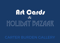 Kate Missett, Art Cards and Holiday Bazaar, Carter Burden Gallery, December 1-15, 2016