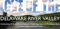Kate Missett's work at the Love of the Delaware River Valley: Celebrating 50 Years of the Delaware Water Gap National Recreation Area, Exhibit, Peters Valley Gallery, Layton, New Jersey