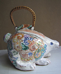 Crafting Resistance II, Spoke Art Gallery, Majolica Rabbit Teapot by Kate Missett, Sunday, June 25, 2017, 2:00 pm-6:00 pm